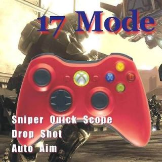 New Xbox 360 Rapid Fire 17 mode Modded Wireless Controller Red for