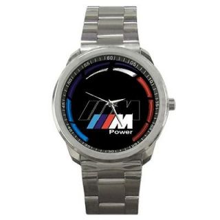BMW M SERIES POWER LOGO SPORT METAL WATCH CUSTOM MADE DESIGN
