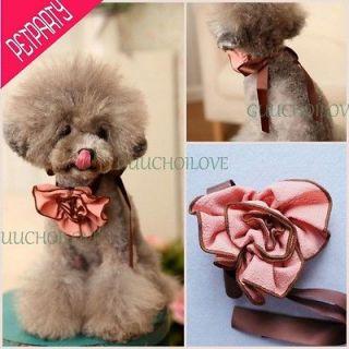 Noble Rose For Dog Clothes Dog Choker Flower Dog Collar Adjustable Dog