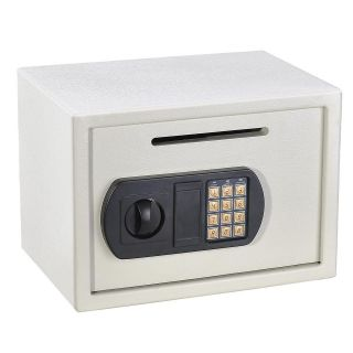 Depository Drop Safe Cash Money Jewelry Gun Box Security Home White