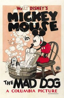 MICKEY MOUSE THE MAD DOG MOVIE POSTER Rare Hot Vintage   PRINT IMAGE