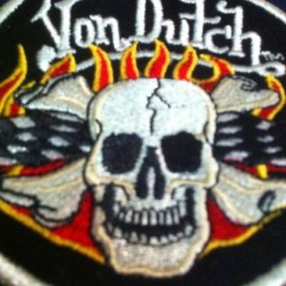 New USA Von Dutch Patched Chopper/Hot Rod/JDM Mechanic Shirt MEDIUM