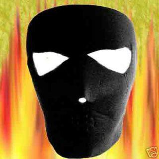 One Solid Jet Black 1 New Reversible Neoprene Full Face Mask Ski Board