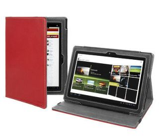 Sony Tablet S (9.4 Inch) Tablet PC Version Stand Red Leather Cover