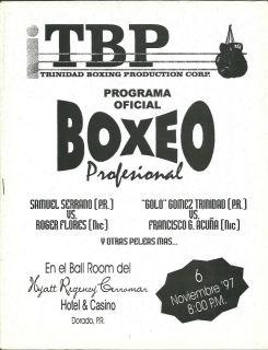 SAMMY SERRANO FELIX TRINIDAD PRODUCT BOXING PROGRAM NOVEMBER 6 1997