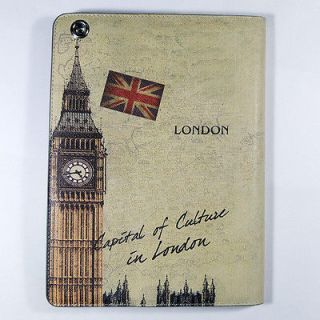 Best The Big Ben Clock of London PU Leather Case Cover Stand For ipad