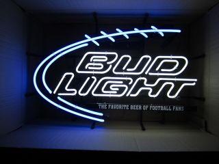 Bud Light NFL Football Fan Neon Sign beer bar light iconic budweiser