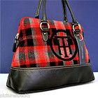 Tommy Hilfiger Red Plaid Handbag Purse Bag