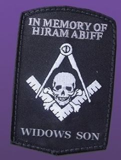 patch in memory of hiram abiff widows son masonic biker patch hiram