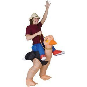 NEW Inflatable Ostrich Jockey Rider Racer Costume Adult