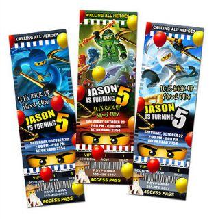 Newly listed NINJAGO BIRTHDAY PARTY INVITATION TICKET CARD CUSTOM LEGO