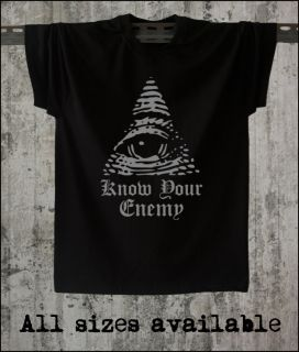 ALL SEEING EYE NWO TRUTH KNOW YOUR ENEMY ILLUMINATI SWEATSHIRT T SHIRT
