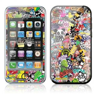 iPhone 3G 3GS Skin Sticker Kit Sticker Bomb v1