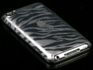 NEW SMOKE ZEBRA SKIN TPU CANDY CASE COVER FOR APPLE iPOD TOUCH 4 4G