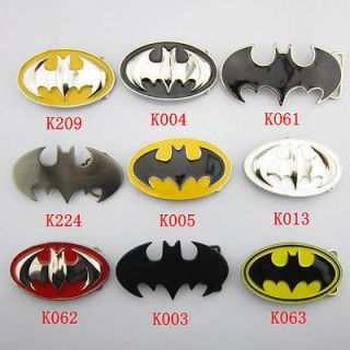 Superhero Batman Mens Metal Belt Buckle Leather Waist Belt Gift
