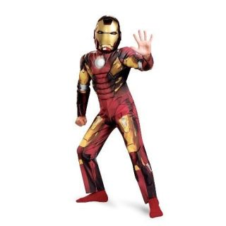 IRON MAN Mark VII Avengers Muscle 2012 Child Costume Size 4 6