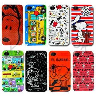 Peanuts Gang Snoopy Case Cover Jacket for iPhone 4S /4