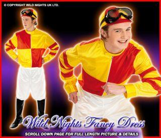 FANCY DRESS COSTUME MENS HORSE RACING JOCKEY