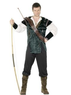 Adult Mens Robin Hood Costume Fancy Dress Costume   M