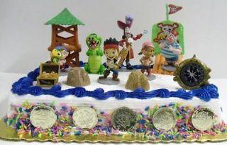 the Neverland Pirates Birthday Cake Topper w Jake, Izzy, Cubby, Hook