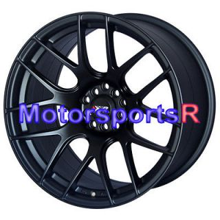 18 XXR 530 Flat Black Concave Rims Staggered Wheels 5x114.3 03 07 08