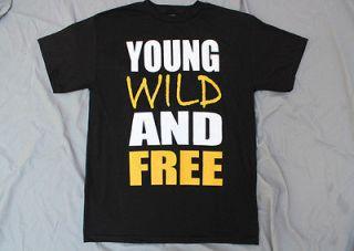 YOUNG WILD AND FREE T SHIRT JERSEY SHORE SNOOP DOGG WIZ KHALIFA