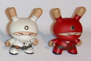 Kidrobot HUCK GEE Gold Life Dunny Ninja Set Red Fire White Zero Clan 1