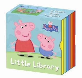 Peppa Pig Little Pocket Library 6 Board Books Childrens Collection