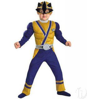 New 2012 Power Rangers Gold Samurai Muscle 2T Toddler Halloween