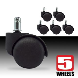 Newly listed 5 Replacement Office Chair Swivel Twin Wheel Caster w/ 7