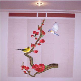 JAPANESE APRICOT TREE & BIRDS HOME DECOR ART WALL STICKER MURAL WALL