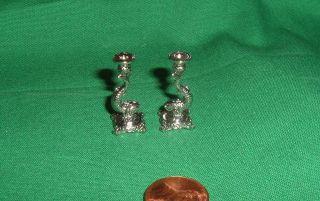 Dollhouse Miniatures Jeannetta Kendall Dolphin Fish Candlesticks 112