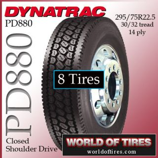 tires DynaTrac PD880 295/7522.5 semi truck tire   22.5lp truck tires