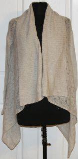 Jennifer Lopez~Womens Light Gray Open Cardigan Sweater ~Size X Small
