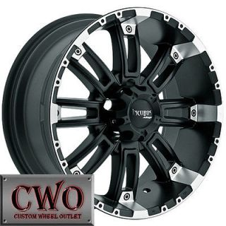 20 Black Incubus Crusher Wheels Rims 5x139.7 5 Lug Dodge Ram Durango
