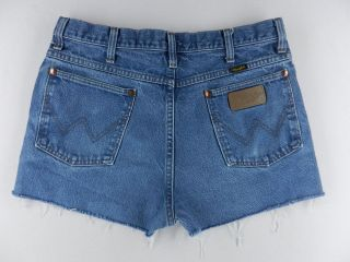 Wrangler Daisy Duke Cut Off Frayed Hem Denim Jeans Shorts Womens Sz 6