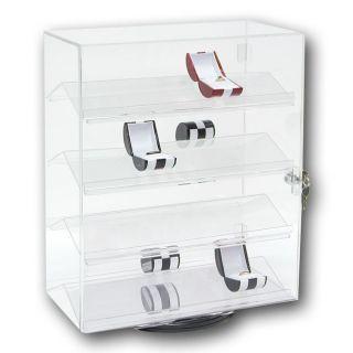 Newly listed Revolving Acrylic Display Case W/ Key Locks,