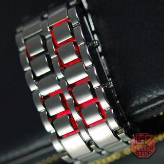 Light Samurai Mens Man Boy Women BLACK Bracelet Watches Gift For HIM