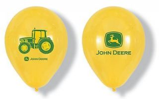 John Deere Yellow Balloons wih Logo and racor Design (pack of 6