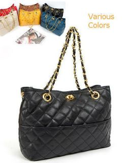 Quilting Gold Chain strap Handbag embossed leather quilted shoulder