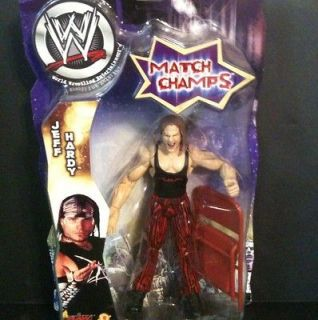 WWE RARE Jakks Jeff Hardy Match Champs Figure w Chair WWF MOC