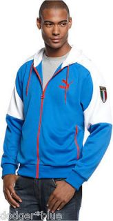 NWT Mens Puma Italy Italia Soccer Football Hooded Kai Jacket Small S