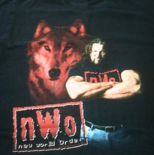 Nwo Wolfpac Kevin Nash T shirt Size Youth Lrg Fits Like Med. Wcw