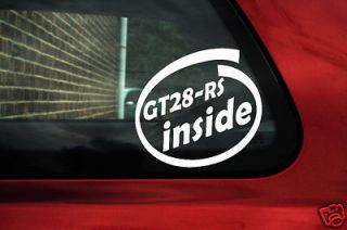 2x GT28 RS inside sticker.for Garrett TURBO VW,BMW,OPEL