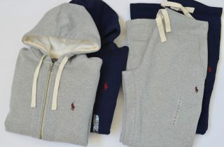 NWT Polo Ralph Lauren Mens Fleece Hoodie/Track Jacket/Sweat Pants