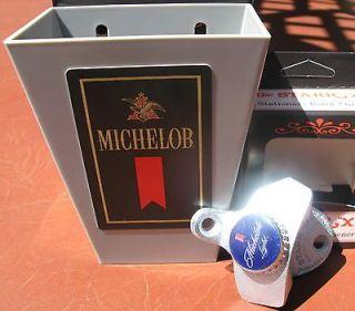 Michelob Light Beer Bottle Cap Opener & Card / Cap Catcher Bar Pub
