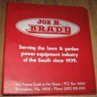Joe H Brady Lawn Garden Equipment 3 Ring Manual Binder