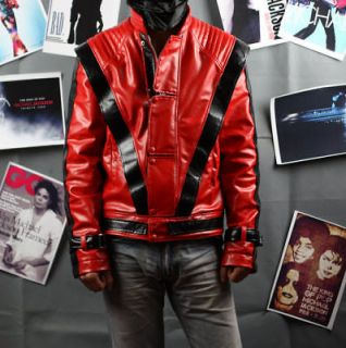 Michael Jackson Thriller Leather JACKET & Free Billie Jean Glove