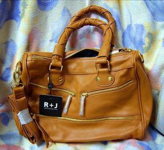 Handbag by Romeo & Juliet Couture Alisa Satchel, Honey Camel NWT