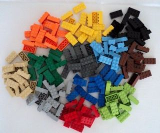 New LEGO Bricks 15 Pieces 2x4 Red Yellow Green Grey Blue Black Brown